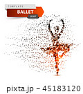 バレエ ダンサー バレリーナのイラスト 45183120