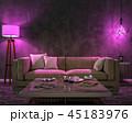 Night interior with purple colored lights 45183976