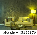 Night interior with yellow colored lights 45183979