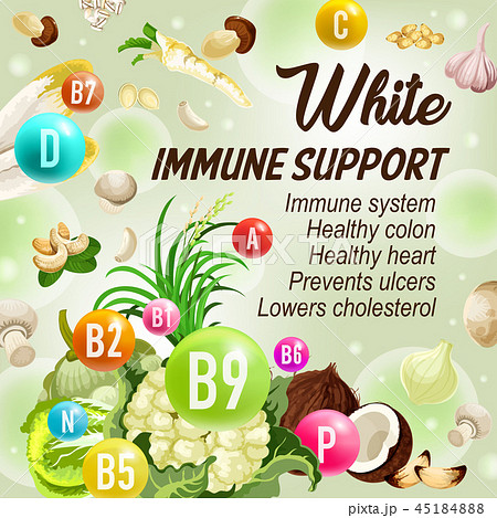 Color diet white day fruits and vegetables 45184888