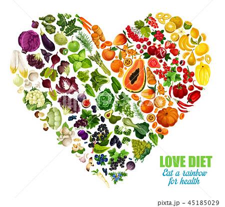 Vegetables and fruits color detox dieting 45185029