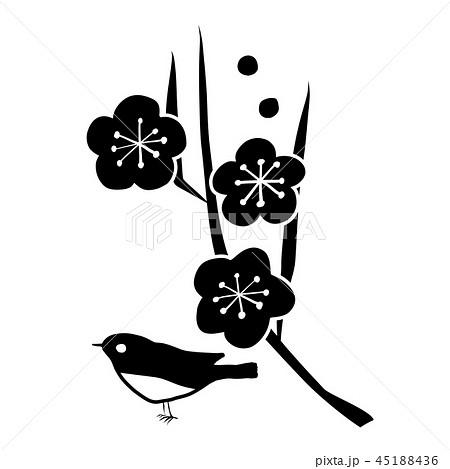 ベクター 梅 小鳥 正月 アイコンのイラスト素材 45188436 Pixta