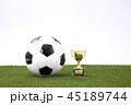 サッカーボール サッカー ボールの写真 45189744