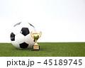 サッカーボール サッカー ボールの写真 45189745