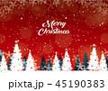クリスマス ベクター 積雪のイラスト 45190383