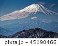 富士山 冬 冬山の写真 45190466