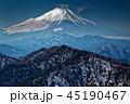 富士山 冬 冬山の写真 45190467