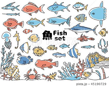 魚アイコンセット 45190729