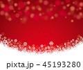 雪 雪の結晶 冬のイラスト 45193280
