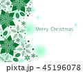 ポインセチア クリスマス クリスマスカードのイラスト 45196078