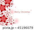 ポインセチア クリスマス クリスマスカードのイラスト 45196079