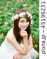 女性 ウェディング ブライダルの写真 45196231