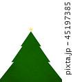 クリスマス ツリー 星のイラスト 45197385