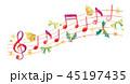 音符のイラスト 45197435
