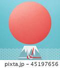 富士山 ご来光 正月のイラスト 45197656
