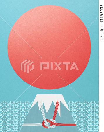 和-和風-和柄-背景-富士山-日の出-正月-水引 45197658