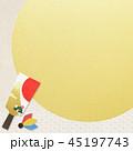 和柄 羽子板 年賀状素材のイラスト 45197743