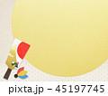 和柄 羽子板 年賀状素材のイラスト 45197745