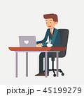 ビジネス ビジネスマン 実業家のイラスト 45199279