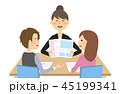 夫婦 打ち合わせ 商談のイラスト 45199341