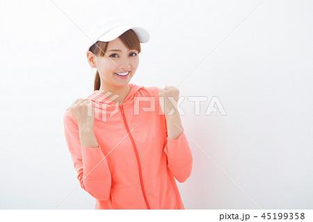ランニングウェアの女性 45199358