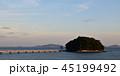 夏の夕暮れの竹島 45199492