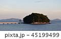 夏の夕暮れの竹島 45199499