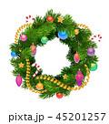 クリスマス リース 休暇のイラスト 45201257