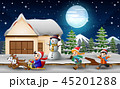 子供 ウィンター 冬のイラスト 45201288