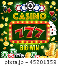 カジノ カジノの 賭け事のイラスト 45201359