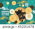 新しい年 新年 新春のイラスト 45201478