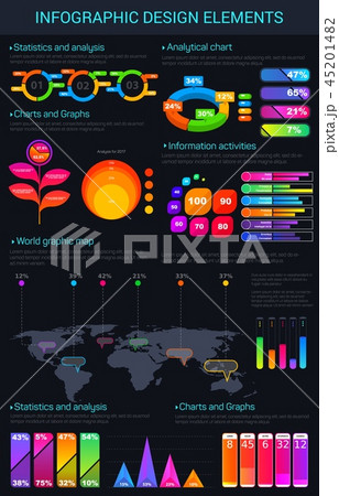 Infographic vector design elements and charts 45201482