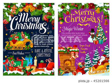 Christmas greetings, decorations, vector gifts 45201566