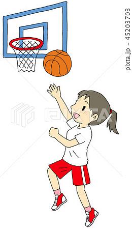 バスケットボール 女子のイラスト素材