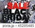 ブラックフライデー 立体 3Dのイラスト 45205485