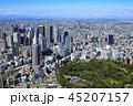 新宿副都心と新宿御苑/都市風景、空撮 45207157