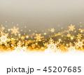 雪の結晶 雪 背景のイラスト 45207685