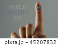 text world diabetes day and man with a blue circle 45207832