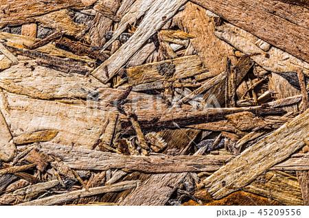 Textured construction wood horizontal view 45209556