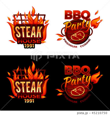 Steak house barbecue meat illustration 45210750