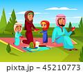 ファミリー 家庭 家族のイラスト 45210773