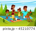マンガ 漫画 ファミリーのイラスト 45210774