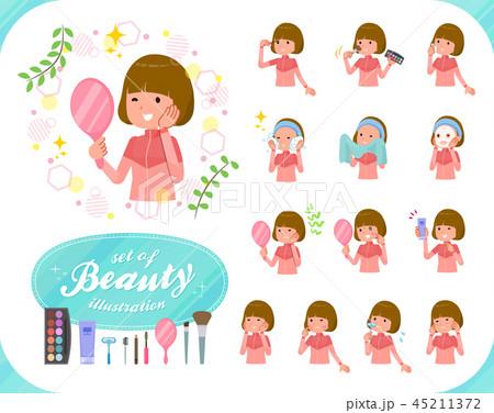 flat type Bob hair women Sportswear_beauty 45211372