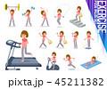 女性 スポーツウエア フィットネスのイラスト 45211382