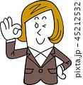 女性 ビジネスウーマン OKのイラスト 45212532