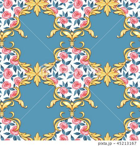 Seamless baroque pattern 45213167