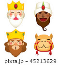 Three Wise Kings Faces 45213629