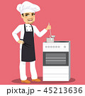 Chef Cooking In Kitchen 45213636