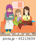 Family Couch Flu 45213639