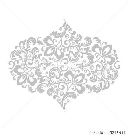 Damask graphic ornament. Floral design element. 45213911